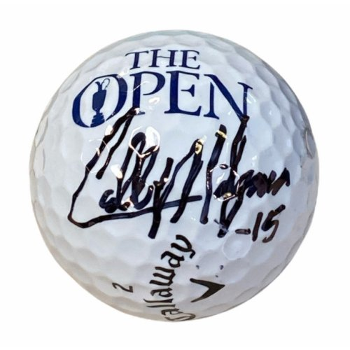Collin Morikawa Autographed British Open Golf Ball with -15 inscription - JSA Certified