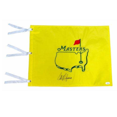 Collin Morikawa Autographed Undated Masters Flag - JSA Certified