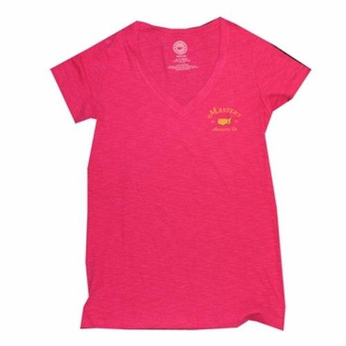 Ladies 2015 Masters V - Neck T - Shirt - Pink