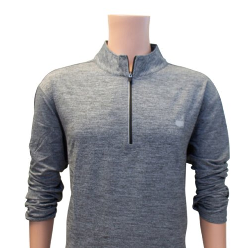 Masters Activewear Heathered Grey 1/4 Zip Performance Tech Jacket