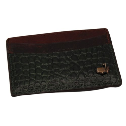 Masters Alligator Grain and Leather Card Case - Brown