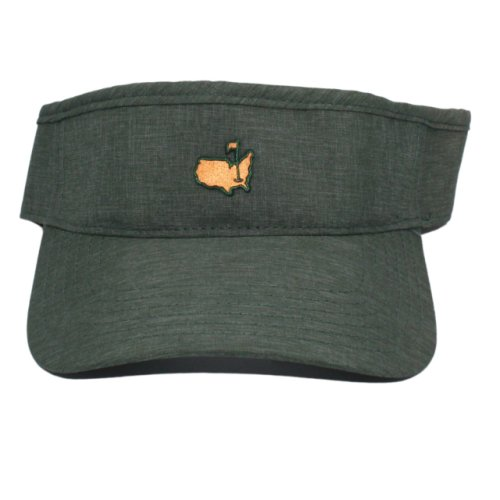 Masters Army Green Classic Visor with Copper Logo
