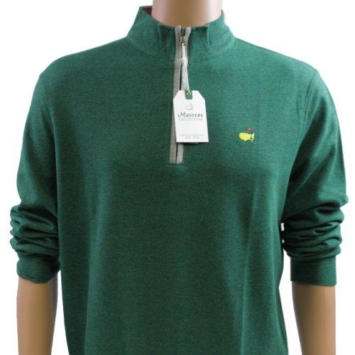 Masters Augusta Green Cotton Quarter Zip Pullover