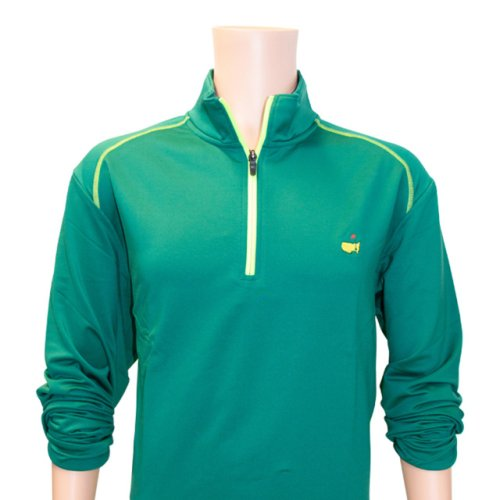 Masters Augusta Green & Lime Performance Tech Quarter Zip Pullover