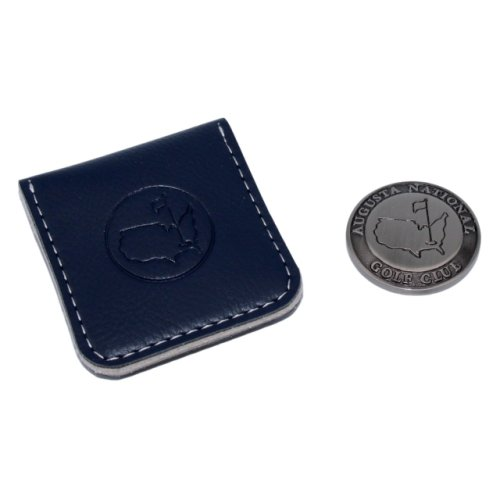 Masters Berckman's Ball Marker and Navy Leather Pouch