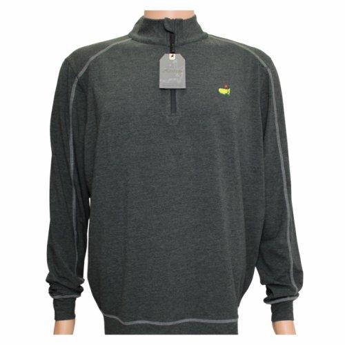 Masters Black Grey Tech Quarter Zip Pullover