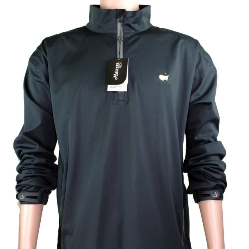 Masters Black Performance Tech Quarter Zip Wind Shirt
