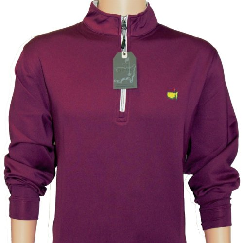 Masters Boysenberry 1/4 Zip Pullover with Grey Collar and White Zipper