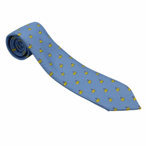 Masters by Vineyard Vines Blue on Blue Diagonal Tie with Logo