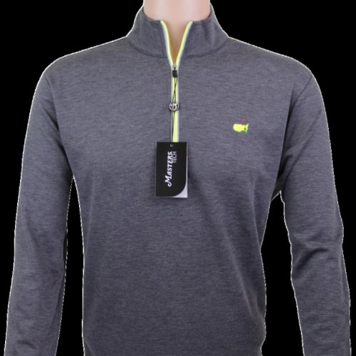 Masters Charcoal & Lime Performance Tech Quarter Zip Pullover