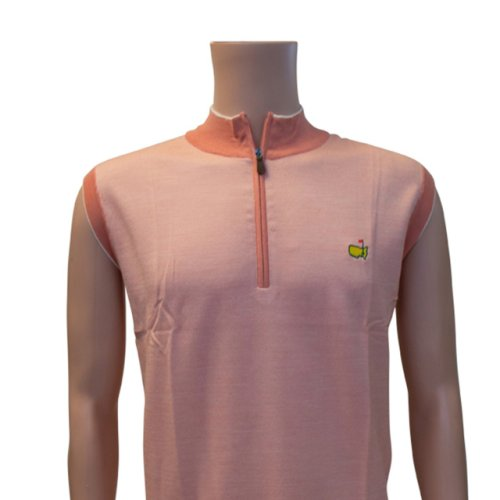 Masters Clubhouse Collection Coral Quarter Zip Vest