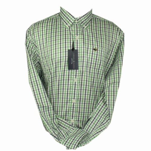 Masters Clubhouse Collection Dress Shirt- Green Navy