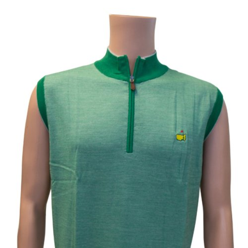 Masters Clubhouse Collection Spring Green Quarter Zip Vest
