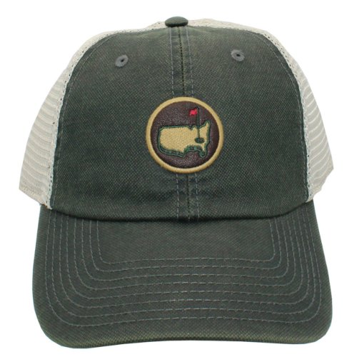 Masters Coated Leather-Look Mesh Back Hat - Green