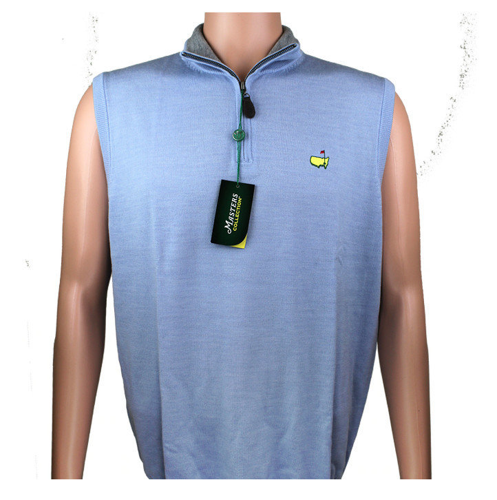 Masters Collection 1/4 Zip Vest- Carolina Blue