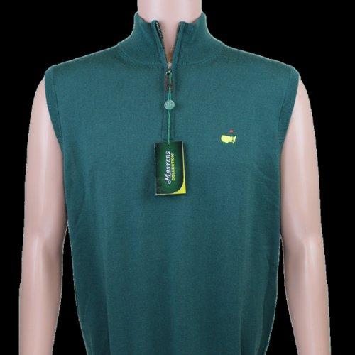 Masters Collection Quarter Zip Vest - Augusta Green