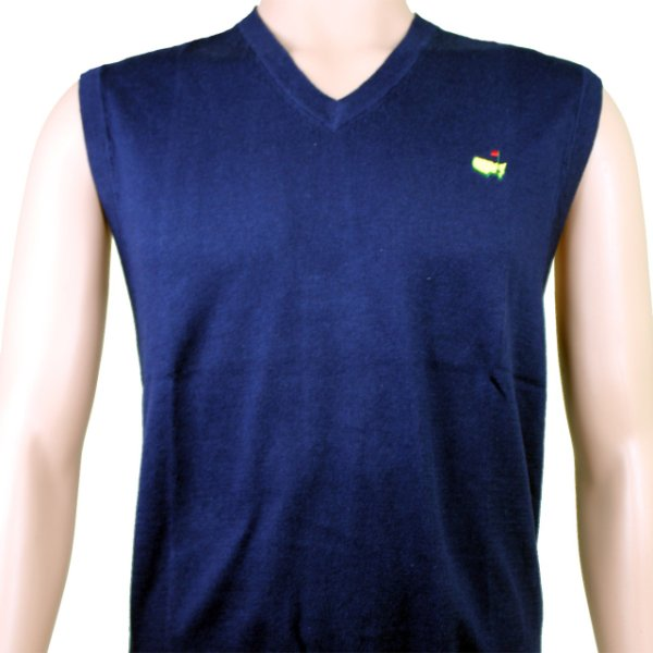 Masters Collection V Neck Sweater Vest- Navy