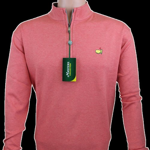 Masters Coral Masters Collection Cotton Quarter Zip Pullover