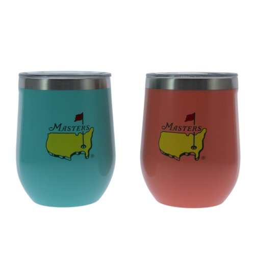 Masters Corkcicle 12oz Stemless Sky Blue & Coral - Set of 2