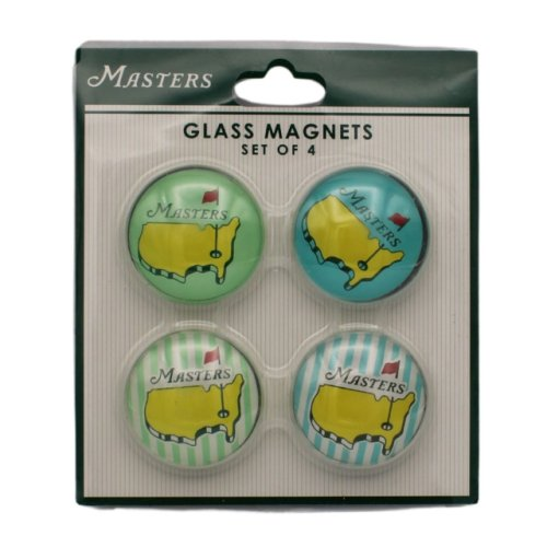 Masters Glass Magnet - 4 Pack