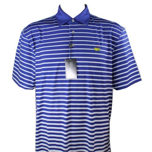 Masters Golf Shirt - Royal Blue/White Striped Tech (pre-order)