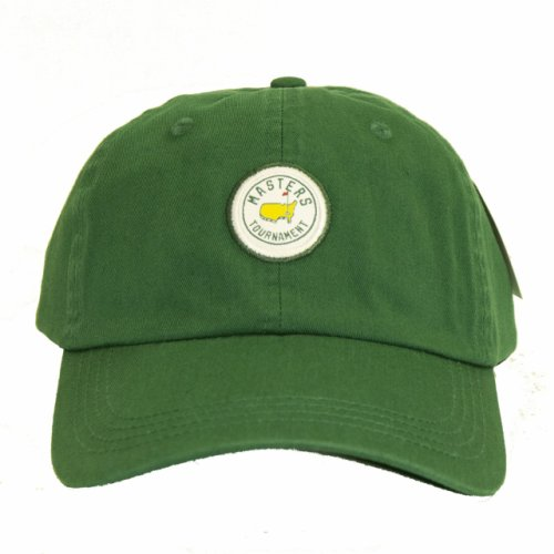Masters Green Cotton Hat with Circle Patch