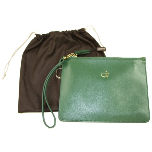 Masters Green Ladies Italian Leather Wristlet