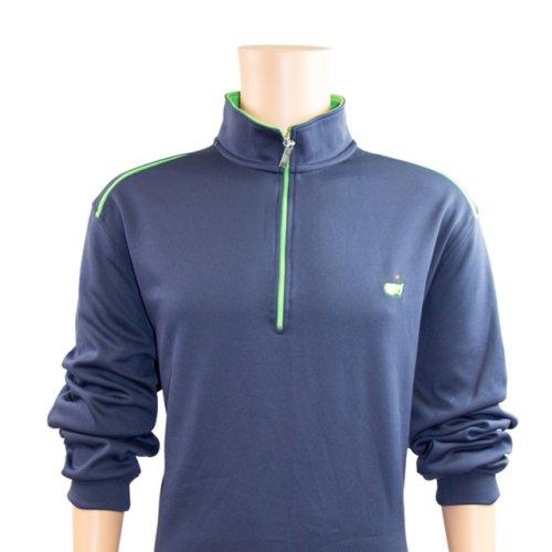 Masters Green & Navy Performance Tech Quarter Zip Pullover
