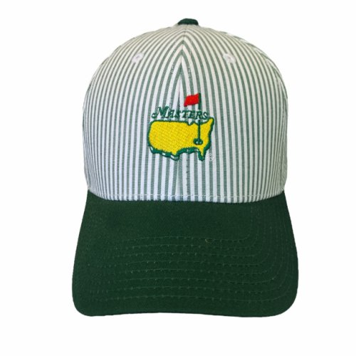 Masters Green Seersucker Caddy Hat