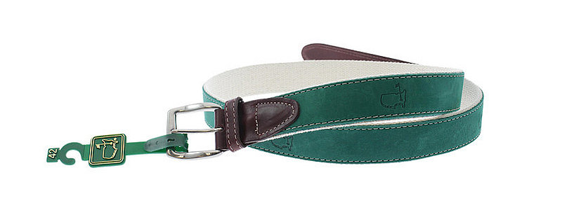 Masters Green Soft Leather Belt