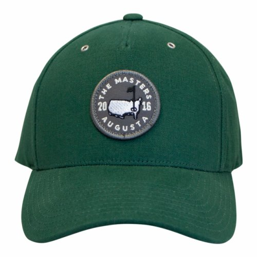 Masters Green Structured Hat with Circle Patch and Gromets