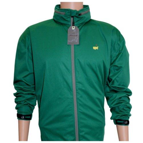 Masters Green Tech Windbreaker with Hood - Full Zip