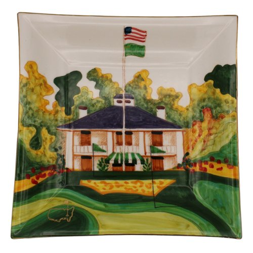 Masters Handpainted Clubhouse Square Plate