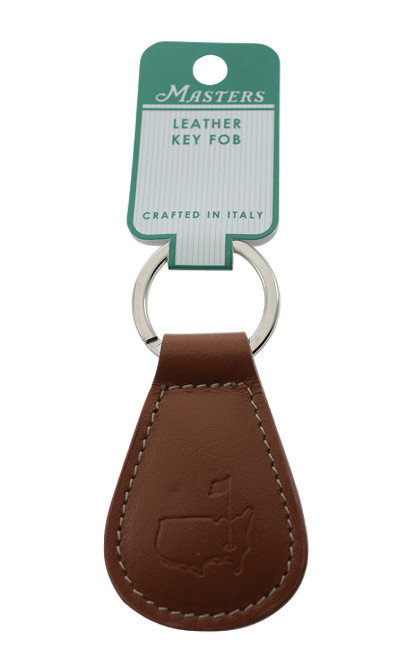 Masters Italian Brown Leather Key Fob