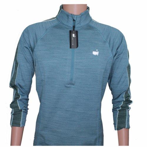 Masters Ladies Activewear Blue 1/4 Zip Performance Tech Jacket