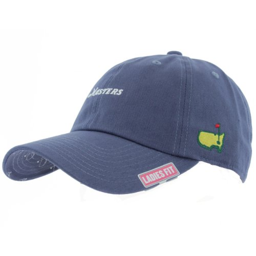 Masters Ladies Blue Script Slouch Hat - Brim Logo