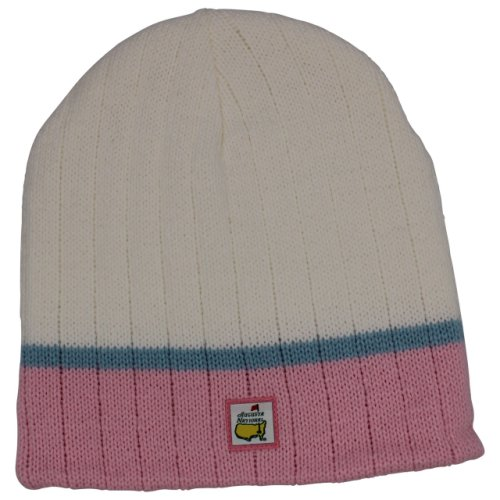 Masters Ladies White, Pink and Blue Beanie - Augusta National