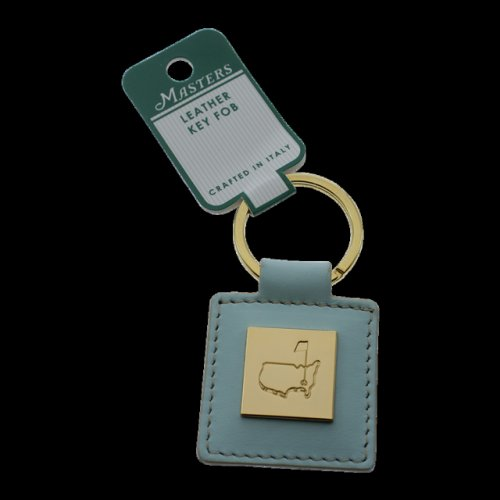 Masters Leather Aqua Key Fob