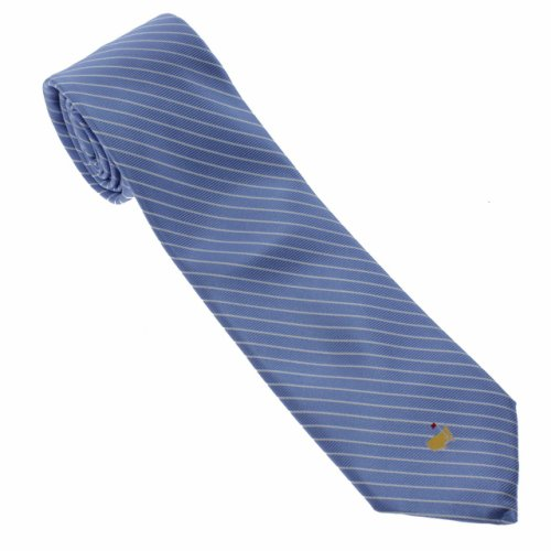 Masters Light Blue Diagonal Stripe Neck Tie