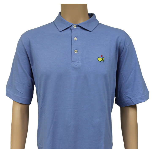 Masters Light Blue Peter Millar Jersey Golf Shirt