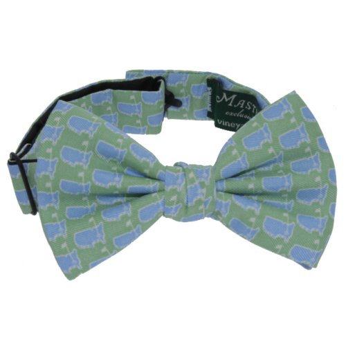 Masters Lime & Baby Blue Bow Tie