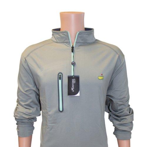 Masters Long Sleeve Performance Tech Slate 1/4 Zip with Mint Zipper