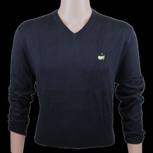 Masters Long Sleeve V Neck Sweater- Black