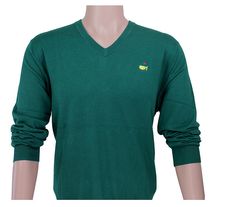 Masters Long Sleeve V Neck Sweater - Green