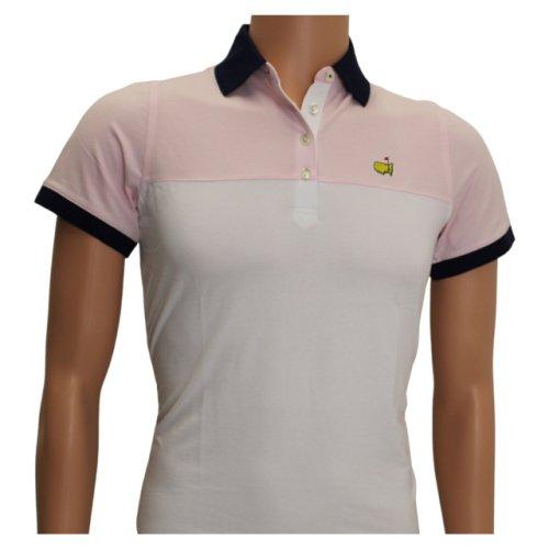Masters Magnolia Lane Navy, Pink and White Block Polo