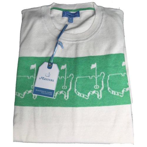 Masters Magnolia Lane White & Green Logo Sweater