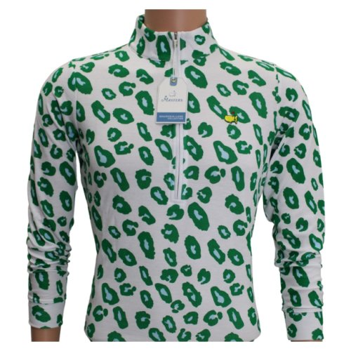 Masters Magnolia Lane White with Blue and Green Quarter-Zip Jacket