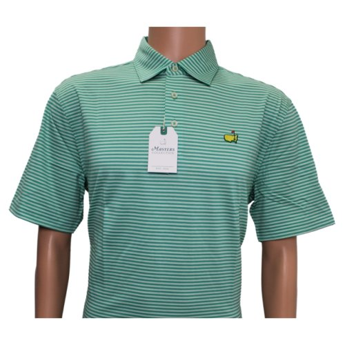 Masters Mint and Cabana Striped Jersey Polo