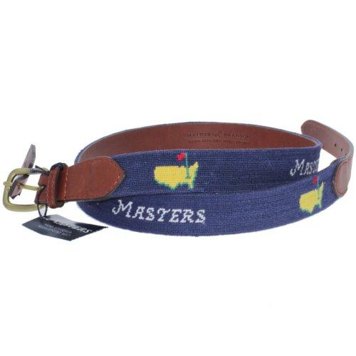 Masters Navy Needlepoint Smathers & Branson Belt