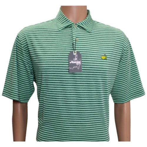 Masters Performance Tech Moss, Sage and Hunter Green Striped Shirt